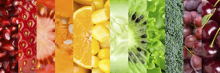 Healthy food background. Сollection with different fruits, berries and vegetables